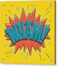 Comic Wham Acrylic Print by Mitch Frey