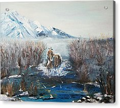 Coming Home- Oil Painting Acrylic Print by Anderson R Moore