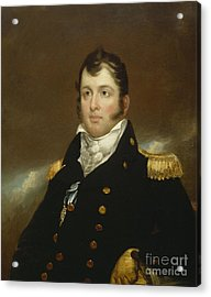 Commodore Oliver Hazard Perry Acrylic Print by John Wesley Jarvis