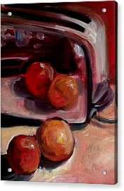 Comparing Apples And Oranges 2 Acrylic Print by Paula Strother