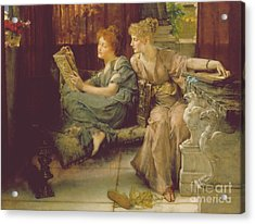 Comparison Acrylic Print by Sir Lawrence Alma-Tadema