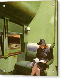Compartment C Acrylic Print by Edward Hopper