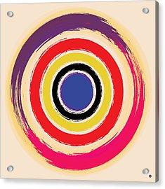 Compass Brush Acrylic Print by Gary Grayson