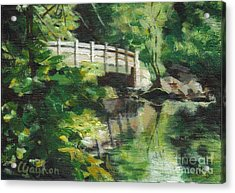 Concord River Bridge Acrylic Print by Claire Gagnon