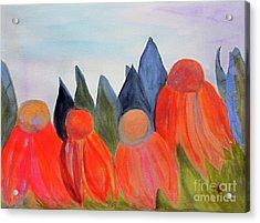 Coneflowers Acrylic Print by Sandy McIntire