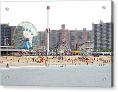 Coney Island, New York Acrylic Print by Ryan McVay