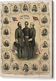 Confederate Generals Of The Civil War Acrylic Print by War Is Hell Store
