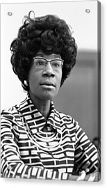 Congresswoman Shirley Chisholm Acrylic Print by Everett