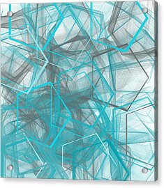 Connecting Angles Acrylic Print by Lourry Legarde