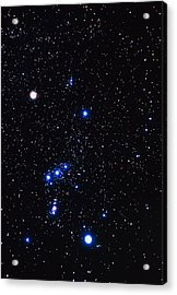 Constellation Of Orion With Halo Effect Acrylic Print by John Sanford