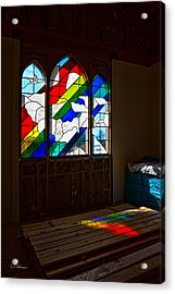 Construction Under Colors Acrylic Print by Christopher Holmes