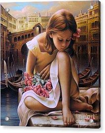 Consuelo Acrylic Print by Arthur Braginsky