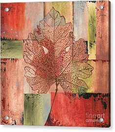 Contemporary Grape Leaf Acrylic Print by Debbie DeWitt