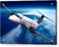 Continental Express Embraer Emb120rt Brasilia N16731 Acrylic Print by Wernher Krutein