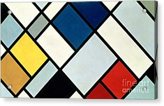 Contracomposition Of Dissonances Acrylic Print by Theo van Doesburg