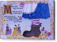 Contrary Mary Acrylic Print by Victoria Heryet