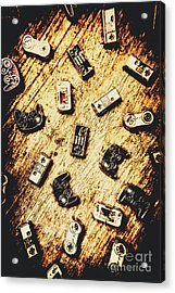 Controllers Of Retro Gaming Acrylic Print by Jorgo Photography - Wall Art Gallery