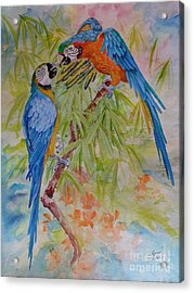 Conversation With Jackie Acrylic Print by Summer Celeste