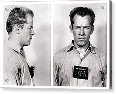 Convict No. 1428 - Whitey Bulger - Alcatraz 1959 Acrylic Print by Daniel Hagerman