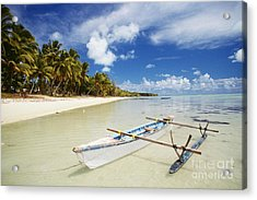 Cook Islands, Aitutaki Acrylic Print by Bob Abraham - Printscapes