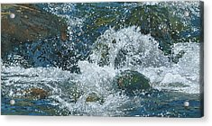 Cool Blue Acrylic Print by Nadi Spencer