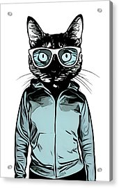Cool Cat Acrylic Print by Nicklas Gustafsson