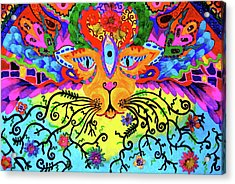 Cool Kitty Cat Acrylic Print by Marina Hackett