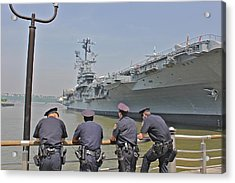Cop Chit Chat Acrylic Print by Jerry Patterson