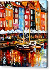 Copenhagen Denmark Acrylic Print by Leonid Afremov