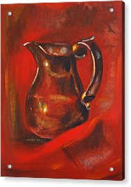 Copper Pitcher Acrylic Print by Joseph Levine