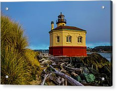 Coquille River 2 Lighthouse Acrylic Print by Garry Gay