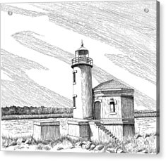 Coquille River Lighthouse Acrylic Print by Lawrence Tripoli