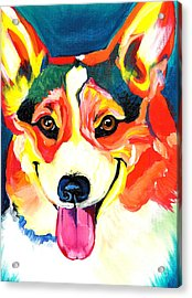 Corgi - Chance Acrylic Print by Alicia VanNoy Call