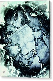 Cork Abstraction Acrylic Print by Wim Lanclus