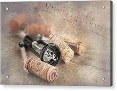 Corkscrew And Wine Corks Acrylic Print by Tom Mc Nemar