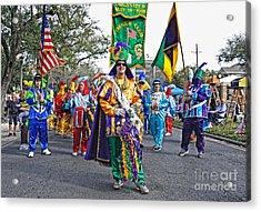 Corner Club 3 -mardi Gras New Orleans Acrylic Print by Kathleen K Parker