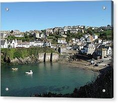 Cornish Fishing Village Of Port Isaac, Cornwall Acrylic Print by Thepurpledoor