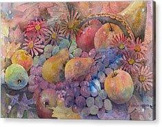 Cornucopia Of Fruit Acrylic Print by Arline Wagner