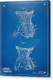Corset Patent Series 1908 Acrylic Print by Nikki Marie Smith