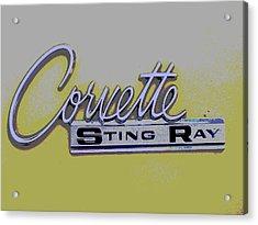 Corvette Emblem Acrylic Print by Audrey Venute