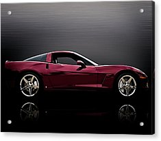 Corvette Reflections Acrylic Print by Douglas Pittman