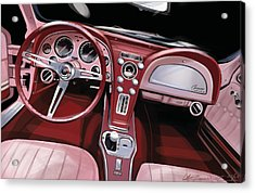 Corvette Sting Ray Interior Acrylic Print by Uli Gonzalez