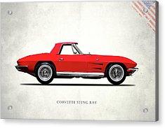 Corvette Stingray 1964 Acrylic Print by Mark Rogan