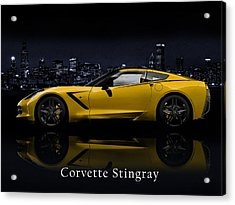 Corvette Stingray Acrylic Print by Mark Rogan