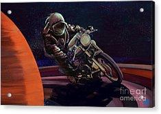 Cosmic Cafe Racer Acrylic Print by Sassan Filsoof
