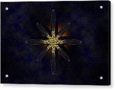 Cosmic Star In A Star Field Acrylic Print by Pelo Blanco Photo