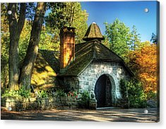 Cottage - The Little Cottage Acrylic Print by Mike Savad