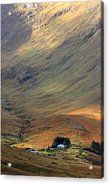 Cottage At The Foothill Of The Colorful Connemara Mountains Ireland  Acrylic Print by Pierre Leclerc Photography