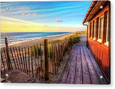 Cottage By The Sea Acrylic Print by Debra and Dave Vanderlaan