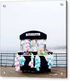 Cotton Candy Carousel- By Linda Woods Acrylic Print by Linda Woods